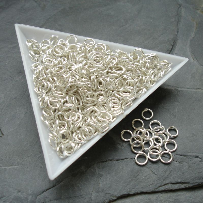 Kroužky spojovací - průměr 5mm - stříbrné