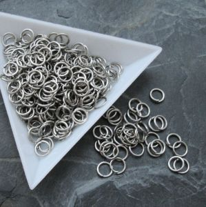 Spojovací kroužky 6mm - platinové - 100 ks