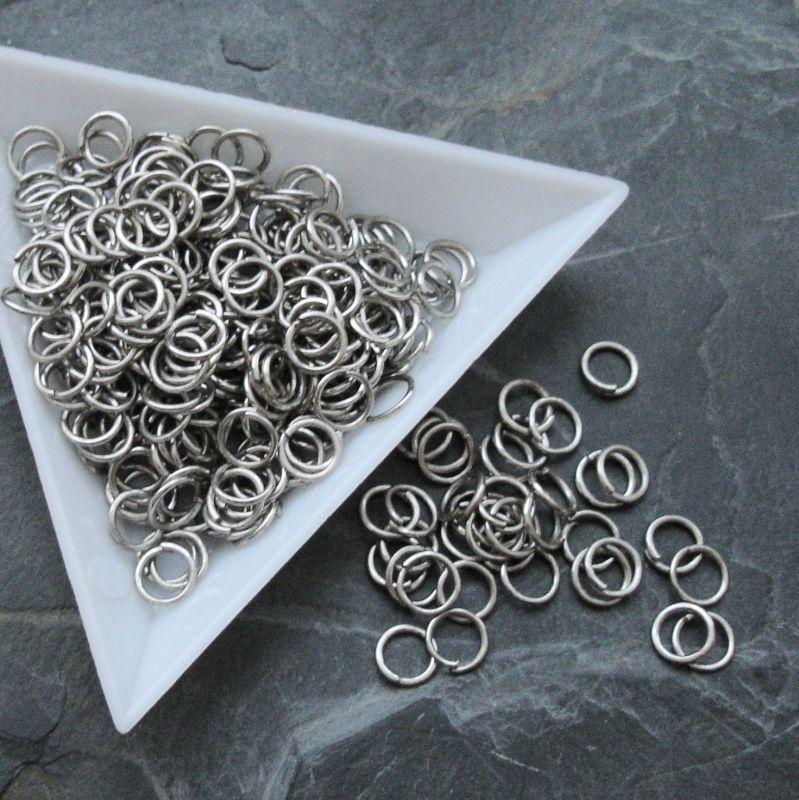 Kroužky spojovací - průměr 6mm - platinové - 100 ks