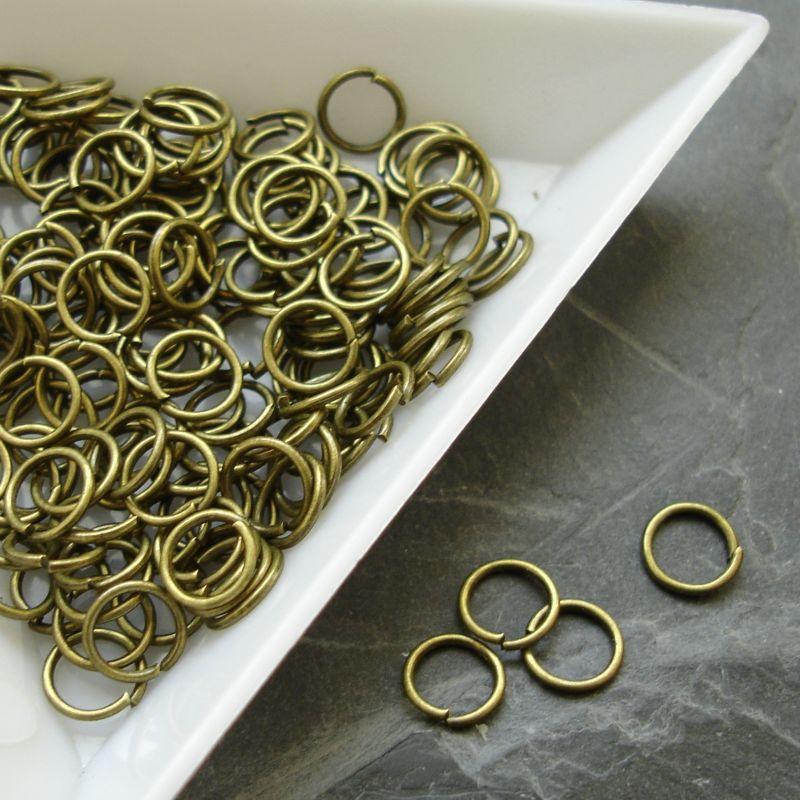 Kroužky spojovací - průměr 6mm - starobronzové
