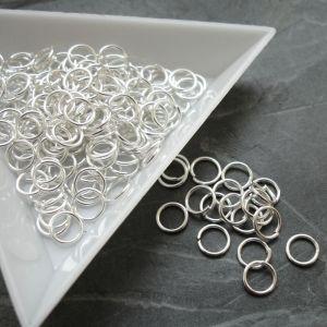 Spojovací kroužky 6mm - stříbrné