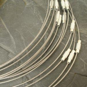 Lanko Ø14cm se zapínáním - platinové - 1 ks