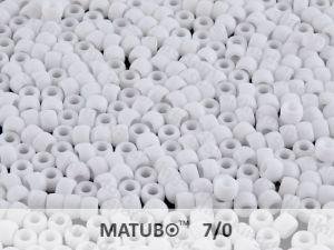 Matubo 7/0 - bílý mat - 5g