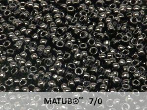 Mačkaný rokajl Matubo 7/0 - černý - 5g