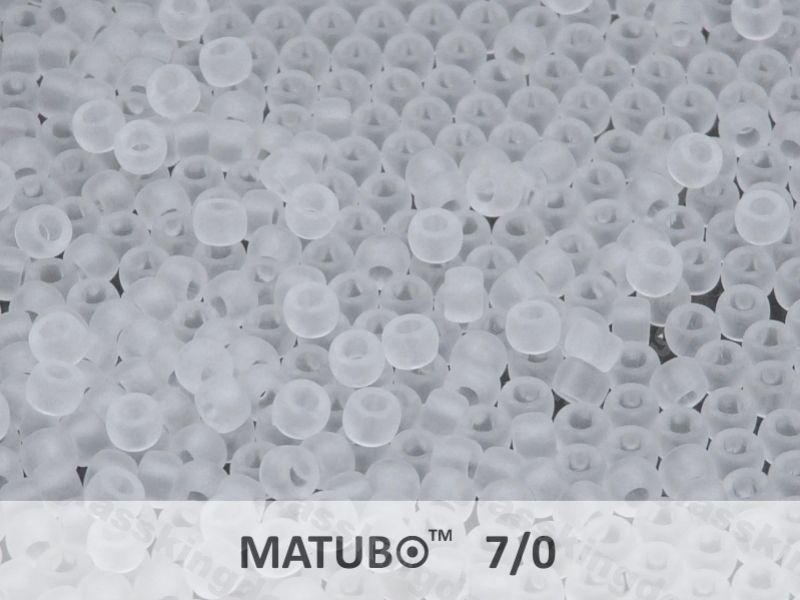 Mačkaný rokajl Matubo 7/0 - čirý mat - 5g