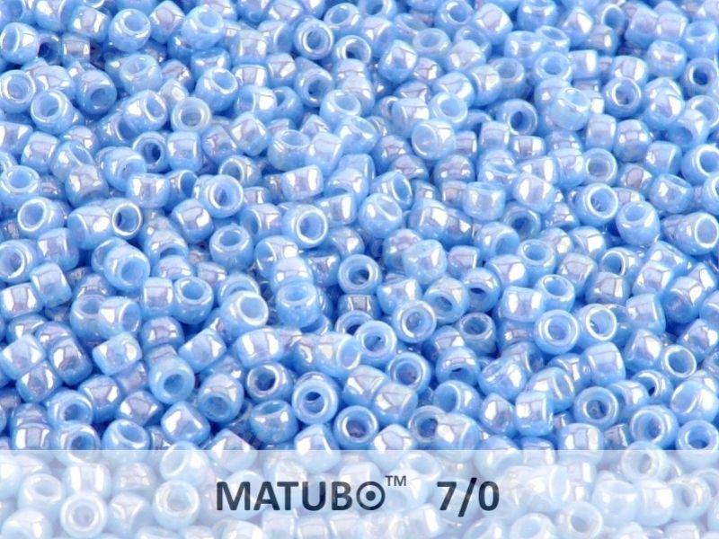 Mačkaný rokajl Matubo 7/0 - modrý - 5g