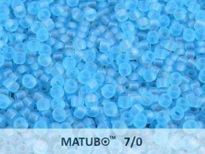 Matubo 7/0 - modrý aquamarín mat - 5g