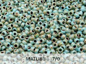 - Matubo 7/0 - tyrkysová picasso - 5g
