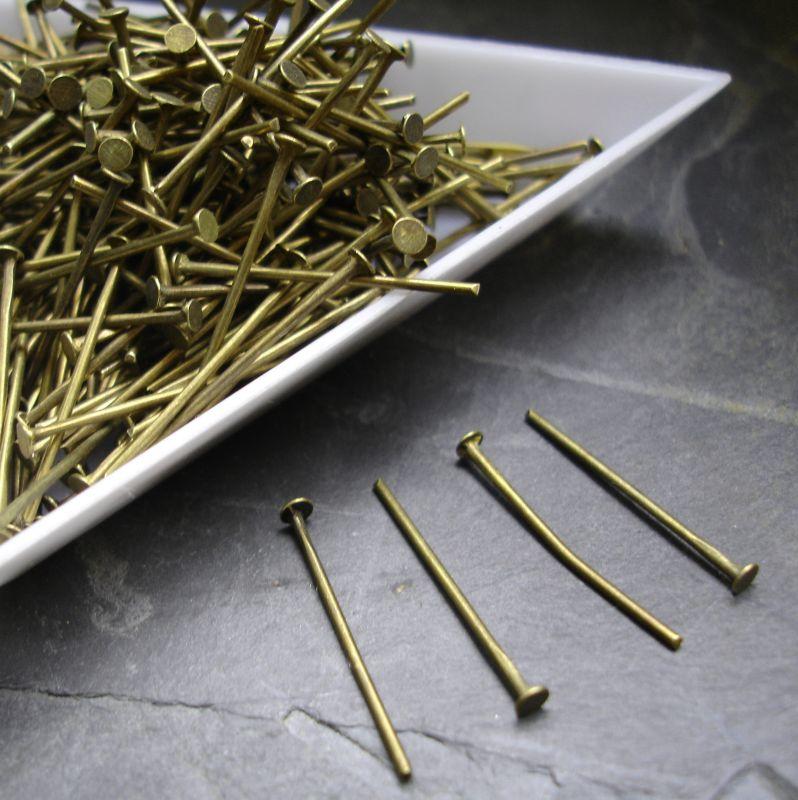 Nýty 20 mm - starobronzové - 50 ks