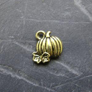 Přívěsek mini dýně 10mm - starobronzový