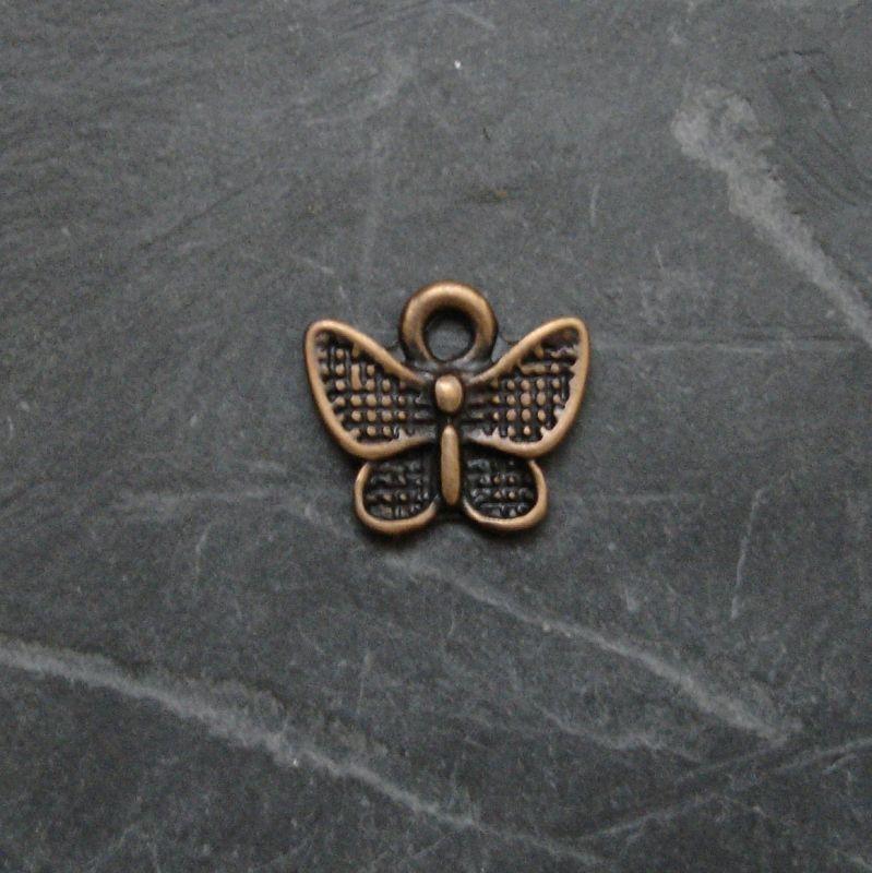 Přívěsek motýlek 13x10mm - staroměděný