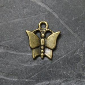 Přívěsek motýlek 13x15mm - starobronzový