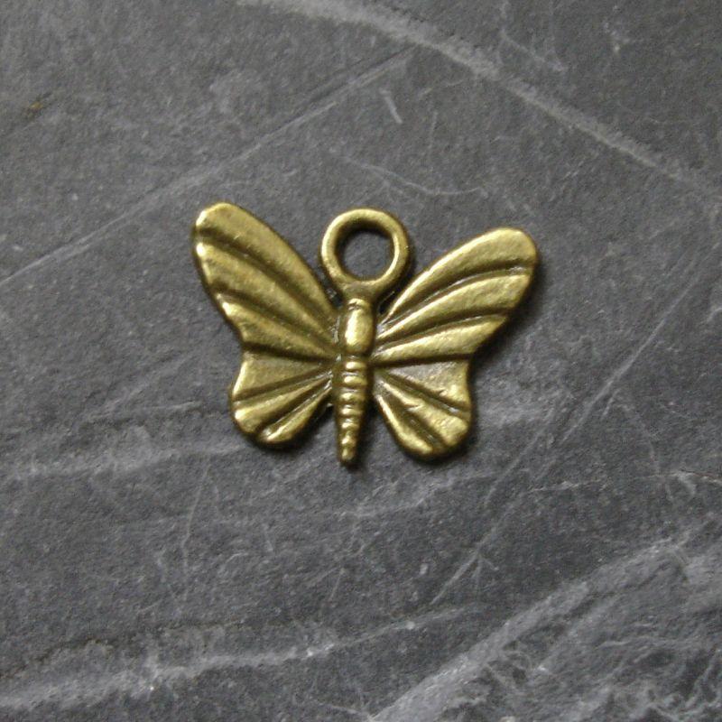 Přívěsek motýlek 16x12mm - starobronzový