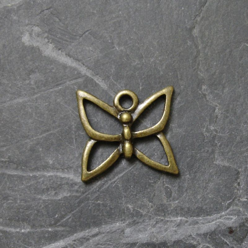 Přívěsek motýlek 16x15mm - starobronzový - 1 ks