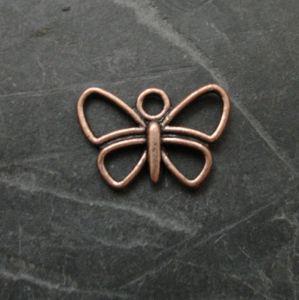 Přívěsek motýlek 17x12mm - staroměděný - 1 ks