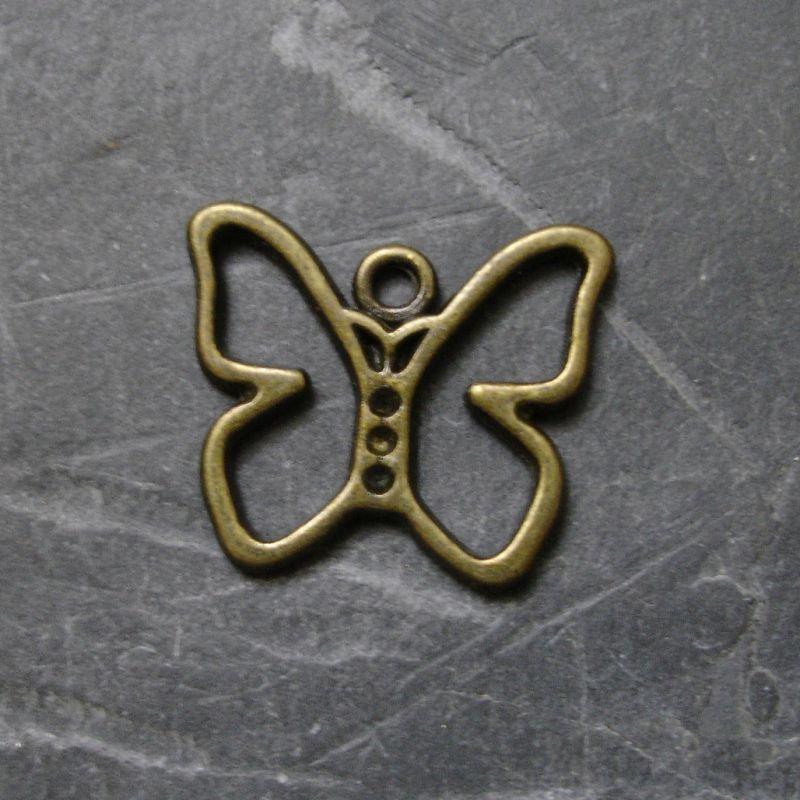 Přívěsek motýlek 18x16mm - starobronzový