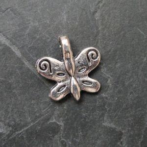 Přívěsek motýlek 19x19mm - starostříbrný - 1 ks