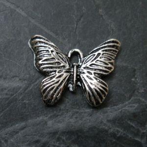Přívěsek motýlek 20x16mm - starostříbrný - 1 ks