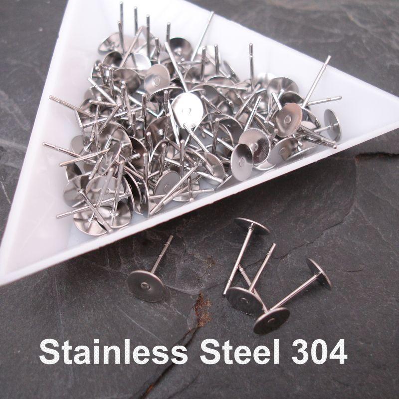 Puzety s ploškou 6mm - nerezová ocel 304 (Stainless Steel)