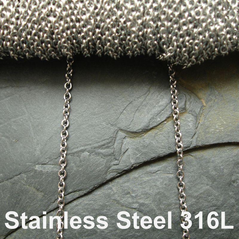 Řetízek 2,8x2,45mm chirurgická ocel 316L (Stainless Steel)