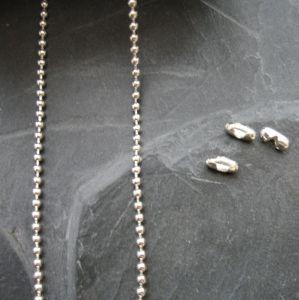 Řetízek kuličkový 1,5mm - stříbrný