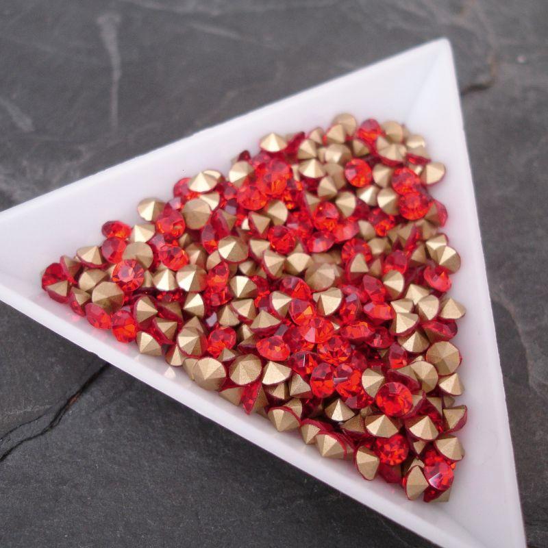 Šatony cca 3,7 - 3,8 mm - červené