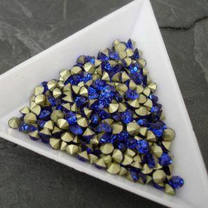 Skleněné šatony cca 3,7 - 3,8 mm - modré
