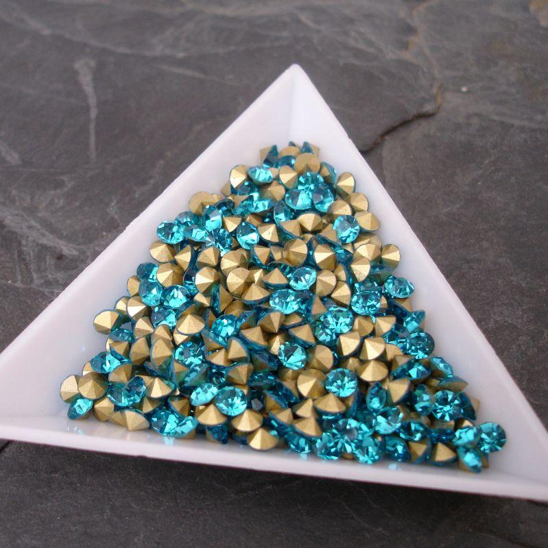 Šatony cca 3,7 - 3,8 mm - tyrkysové