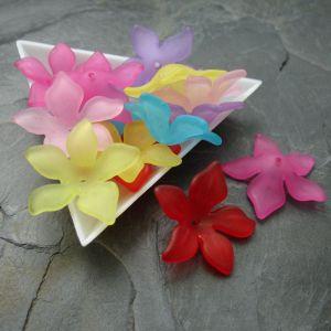 Akrylové květy 29mm - mix