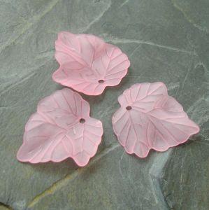 Akrylový lístek 24x23 mm - růžový