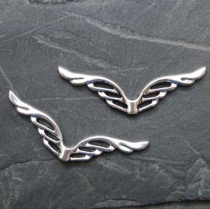Andělská křídla velká 39x12mm - starostříbrná