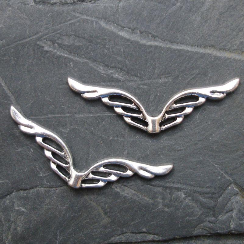 Andělská křídla 39x12mm - starostříbrná - 1 ks