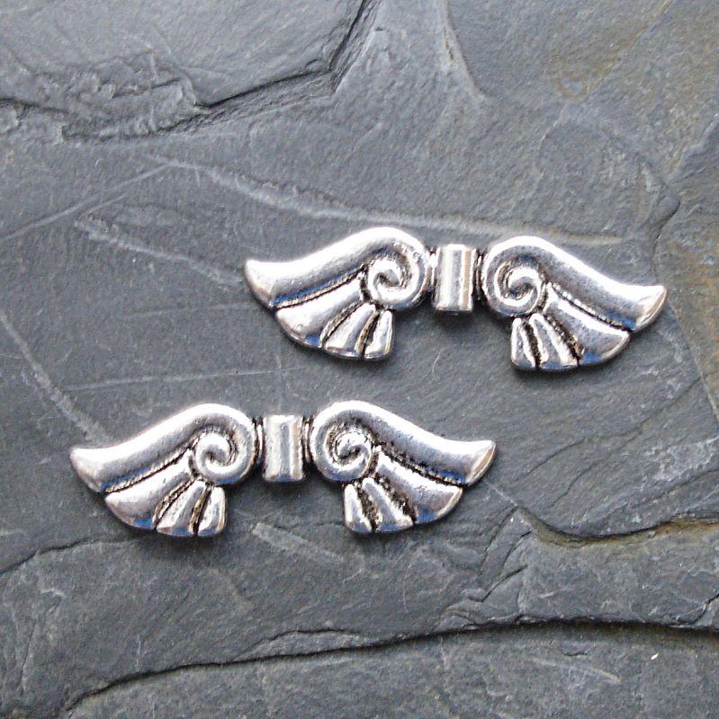 Andělská křídla 45x14mm - starostříbrná