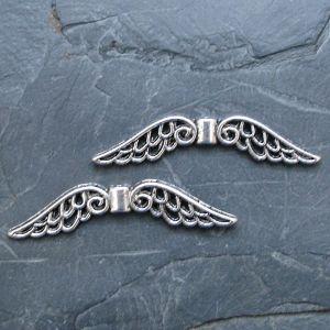 Andělská křídla velká 51x14mm - starostříbrná