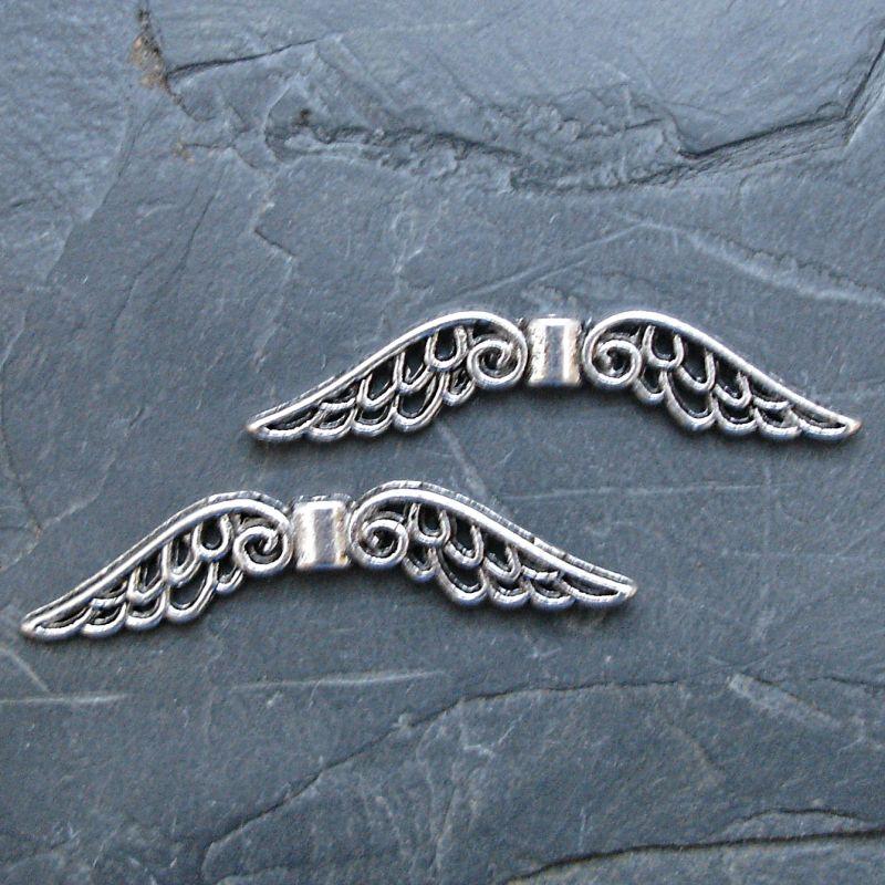 Andělská křídla 51x14mm - starostříbrná