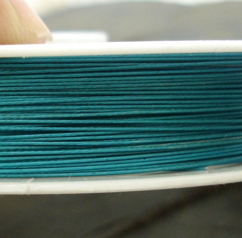 Bižuterní lanko 0,38mm - azurové