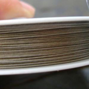 Bižuterní lanko 0,38mm - platinové