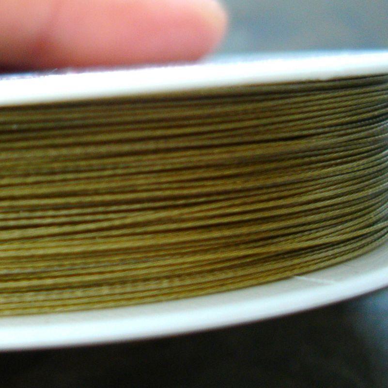 Bižuterní lanko 0,38mm - zlaté - 1 m