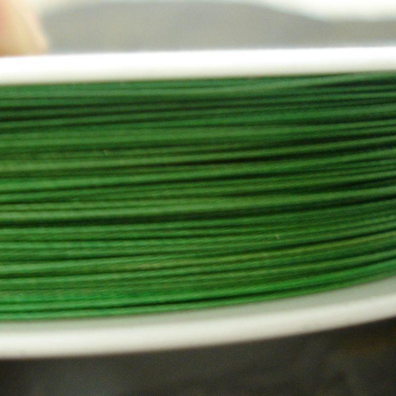 Bižuterní lanko 0,38mm - zelené - 1 m