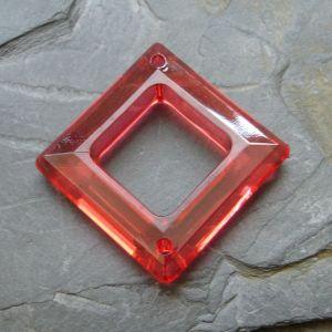 Plastový kosočtverec 29x29mm - červený