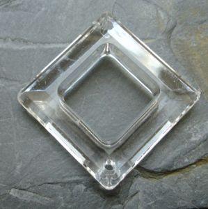 Plastový kosočtverec 29x29mm - čirý