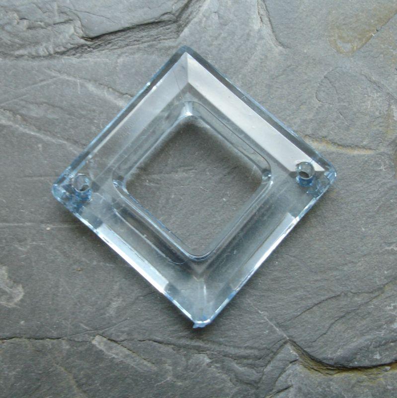 Plastový kosočtverec 29x29mm - sv. modrý - 1 ks