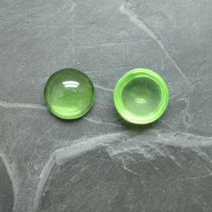 Kabošon kulatý 14mm - zelený