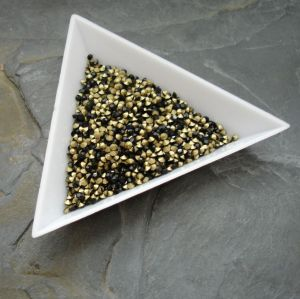 Skleněné šatony cca 1,9-2,0 mm - černé