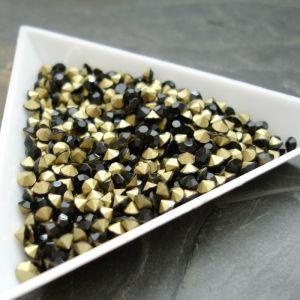 Skleněné šatony cca 3,0 - 3,2 mm - černé - 50 ks