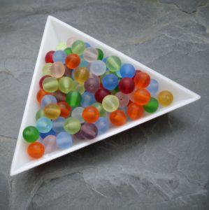Skleněné korálky kuličky 6mm mix barev - 30g