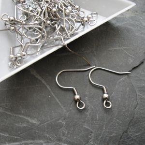 Afroháčky s pružinkou a kuličkou - Stainless Steel 304 - 10 ks