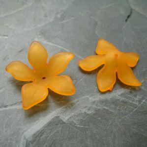 Akrylový květ 29mm - oranžový