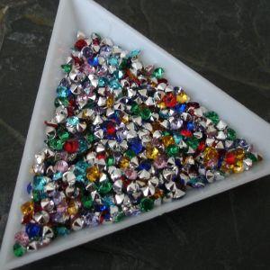 Akrylové šatony cca 3mm - mix barev - 50 ks
