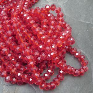 Broušené rondelky cca 8x6mm - červené